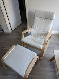 Poang Rocking Chair and Ottoman