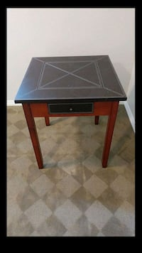 Leather Top Game Table