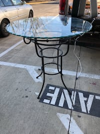 Counter-height Glass & Metal Table  Gaithersburg, 20877