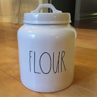Only one: Rae Dunn Flour Canister from USA (New) Burlington, L7L 5W9