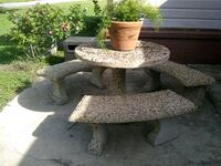 rock table with benches Greenville, 75402