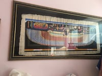 Magnificent Egyptian papyrus art with with expensive frame. Original price $1K. Negotiable   Toronto, M5T