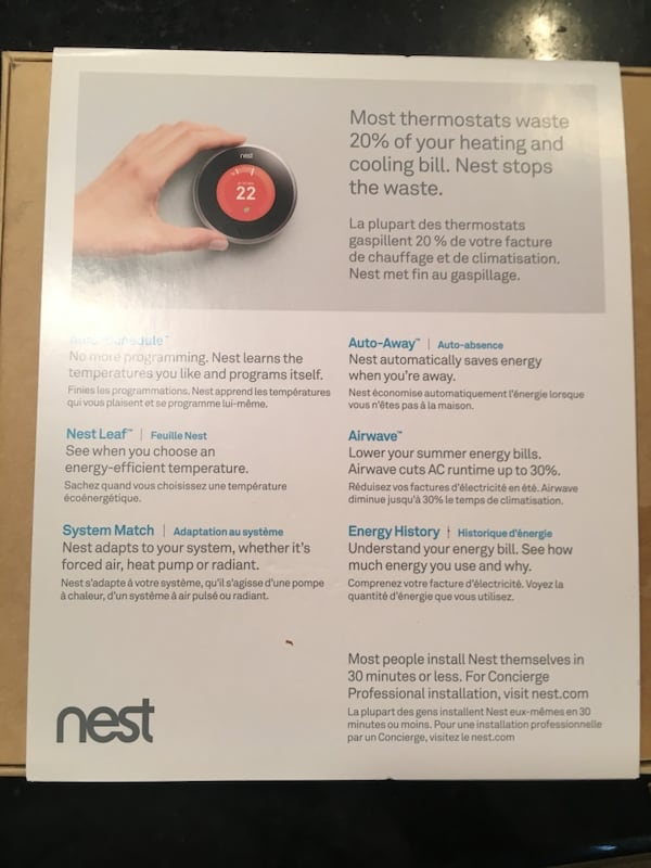 3rd generation Brand New in Box Nest Learning Thermostats 1
