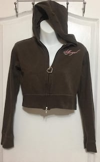 Brown Hooded crop Sweater: Size M Toronto, M6G
