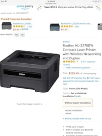 Brother HL-2270DW Compact Laser Printer with Wireless Networking  Los Angeles, 91304