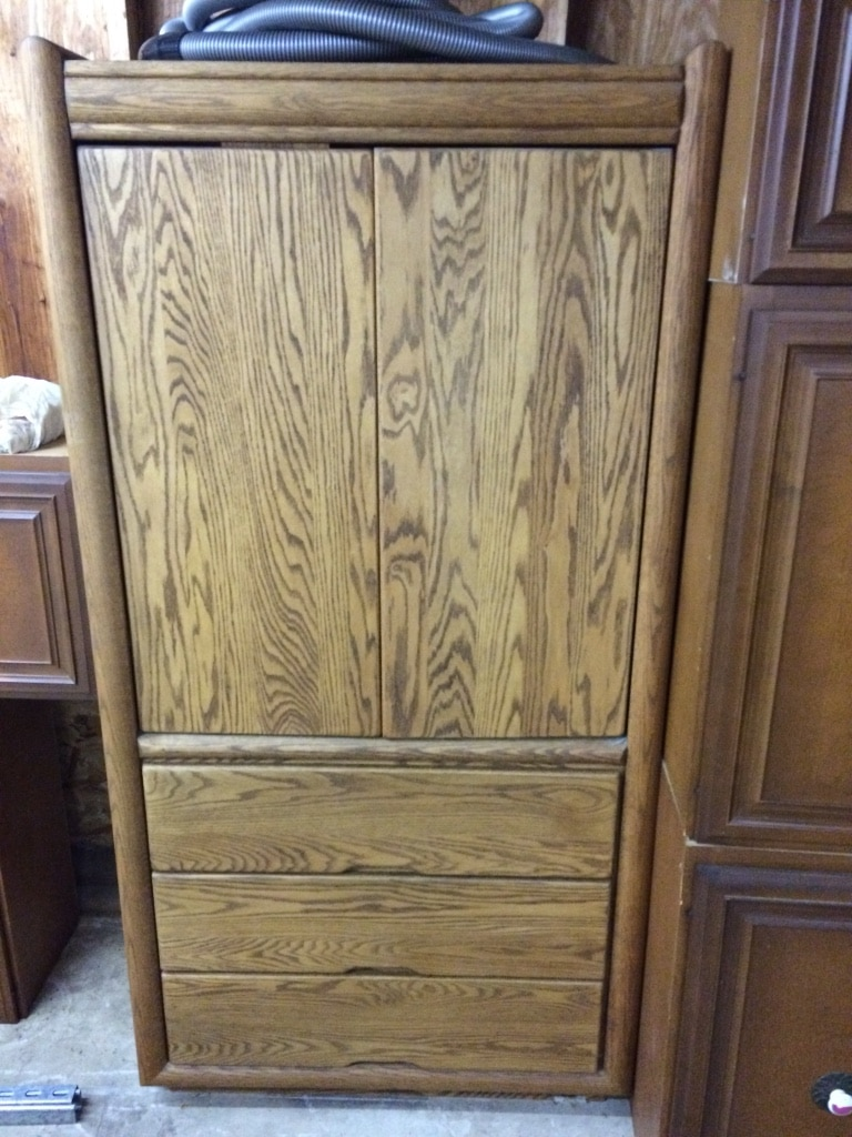 Arbek Solid Wood Television Armoire Or TV Cabinet. TV Cabinet Can Be  Converted To A