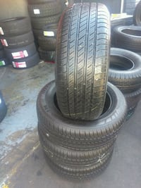 Semi new set of 4 tires 215/55/R16 brand MICHELIN  Lakewood, 90713