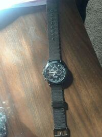 round black chronograph watch with black strap Owings Mills, 21117