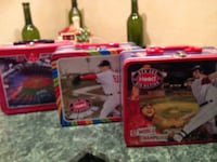 Red sox lunch boxes, $4 each, 6 for $20, pictures show front & back. Milford, 06460