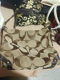 monogrammed brown Coach shoulder bag Vancouver, V6B 1B2