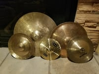 Various cymbals and cymbal heads and new and like