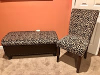 Leopard storage bench and chair from Pier1