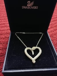 silver-colored heart pendant necklace Barrie, L4N 9J5