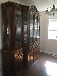 brown wooden china buffet hutch Smithville, L0R 2A0
