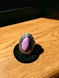silver and purple gemstone ring Fitchburg, 01420