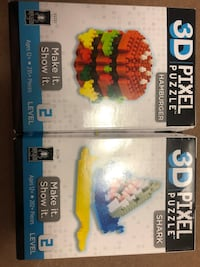 New 3D pixel puzzles $7 for both Ocala, 34472