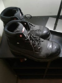 pair of black leather work boots with box Edmonton, T5W