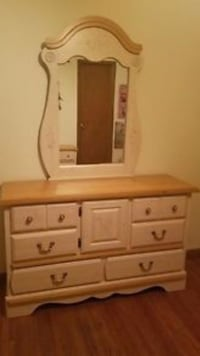 brown and white wooden vanity dresser Toronto, M9C