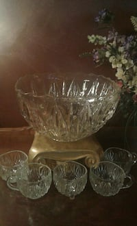 Vintage Crystal Punch Set  Greensboro