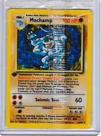 Machamp Pokemon Card 1st Edition Toronto, M6G 2G6