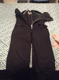 Black lined bib overalls Moose Jaw, S6H