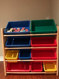 blue, red, and green plastic organizer Pickering, L1V 7C9