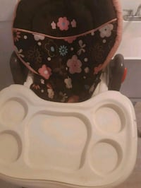 white and red floral high chair Lanham, 20706