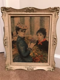 """Beautiful Vintage Antique Picture named the """"Flowers """""""