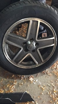 Chrome 5-spoke car new winter tires Brampton, L6R 2K7