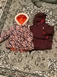 Girl winter jacket size 2t and 3t Mississauga, L5N 6K5