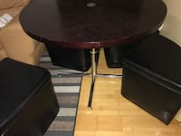 Round brown wooden pedestal table Paterson, 07524