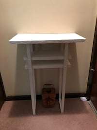 Rustic handmade small white stand  Marcellus, 13108