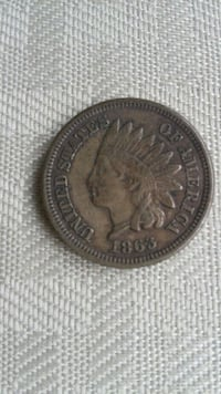 1863 indian head penny Groveport, 43125