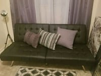 black leather 2-seat futon Oxon Hill