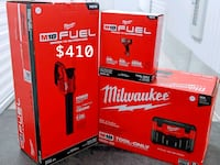 Milwaukee impact wrench, vacuum and blower (tool only-$410,$460,$520)