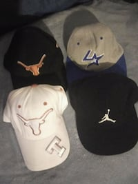 four assorted baseball caps and two caps Weslaco, 78596