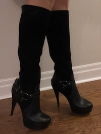 Leather and suede heel boots by Madonna   Toronto, M2N 7K2