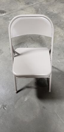 Light Grey Folding Chair