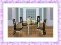 Glass table with 4 chairs free 55 km