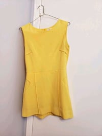 yellow scoop neck sleeveless dress Toronto
