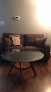 love seat and glass coffee table   [TL_HIDDEN]  Manassas, 20110