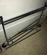 Double industrial clothing rack