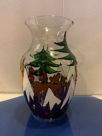 Rocky Mountain Hand Painted Decorative Vase Greenwood Village, 80112