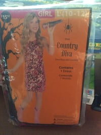 girl's pink country diva costume Herndon, 20170