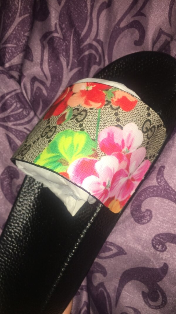 9690771a5bbd Used Floral Gucci Inspired Slides for sale in New York - letgo