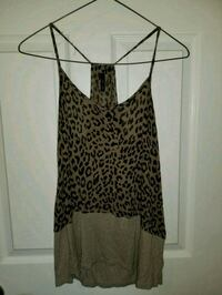 black and brown leopard print spaghetti strap top Quinte West, K0K 2B0