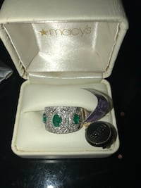 silver and green gemstone ring in box Lorton, 22079