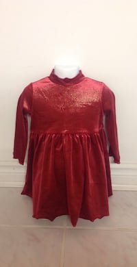 CHILDRENS PLACE Red Dress: Size 24 Months 539 km