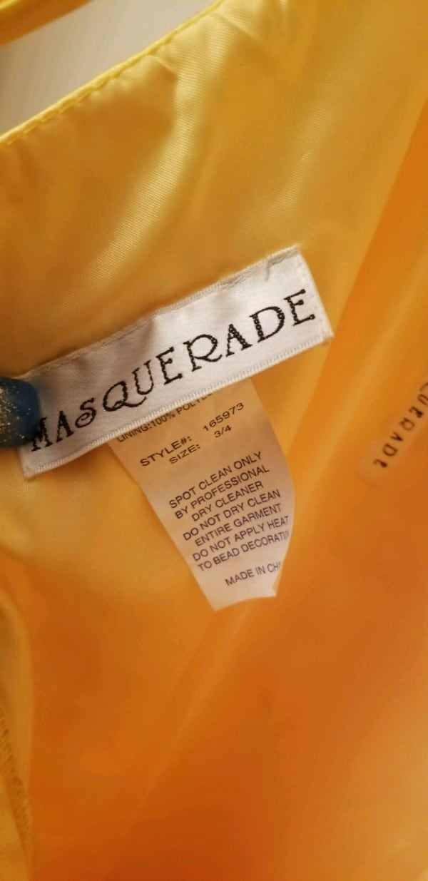 Stunning Yellow Masquerade Size 3/4 66d3f84c-be6d-4d79-a08b-364f0f8d81df