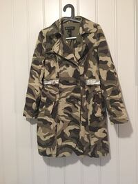 urban camouflage trench coat